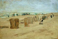 Liebermann / Beach in Noordwijk / 1908 #Max #Liebermann #weewado #max #liebermann #german #art #free #time