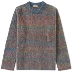 Acne Studios Nikos Mohair Crew Sweat (€390) ❤ liked on Polyvore featuring tops, hoodies, sweatshirts, crew neck tops, crewneck sweatshirt, acne studios, blue top and crew-neck sweatshirts