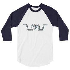 Shrug 3/4 Sleeve Raglan Shirt