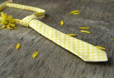 little boy tie yellow plaid PRETIED NECKTIE by TheBestBoysTies, $9.50