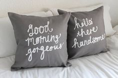 Hello There Handsome Cushion Cover 18 x 18 inch by ZanaProducts