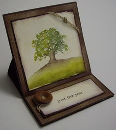 Stamping with Loll: Lovely as a Tree Watercolour