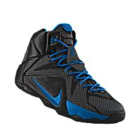 I designed the black Nike LeBron 12 iD men s basketball shoe with photo  blue trim. f969f91d9bf