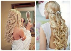 Get inspired: Two gorgeous #quinceanera hairstyles for long hair. So pretty!
