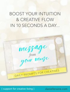 Designed to reconnect you to your creative spirit so quietly and subtly that your resistance doesn't even get a look in. 💡 A Message From Your Muse - daily prompts to boost your intuition & creative flow : : Danielle Raine Happiness Study, Coaching Questions, Joy Quotes, Creativity Quotes, Positive Psychology, Meaningful Life, New Thought, Fiction Writing, How To Increase Energy