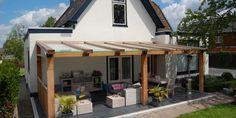 Afbeeldingsresultaat voor houten schuur met veranda met glazen dak