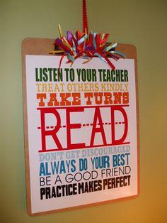 What a cute sign for a teacher gift!