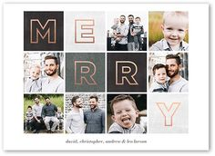 Gleeful Grid 5x7 Stationery Card by Magnolia Press