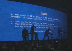 Blue screen at a Nine Inch Nails concert
