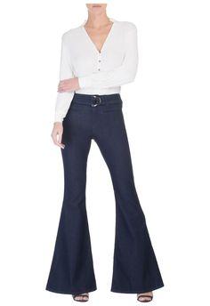 LE LIS BLANC - Calça jeans flare Bruna - OQVestir