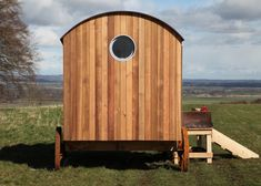 Shepherd's hut with wet room or compost toilet.