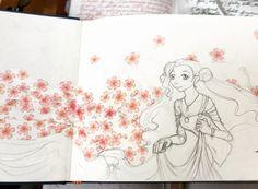 {{ sketchbook intro page. I tried using washi tape... I think I like the effect. }} . . . #sketch #sketchbook #washitape #maste #mt #flowers #sakura #pink #princess #princesseuphemia #euphemia #euphie #euphy #euphemialibritannia #codegeass #コードギアス #コードギアス反逆のルルーシュ #ユフェーミア #drawing #illustration #イラスト #fanart #animefanart #traditionalart #traditional_art #artistsoninstagram #art