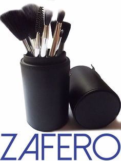 ZAFERO MAKE UP BRUSHES SET  This brush set contains eight of the best beauty tools of the trade. Each brush is specially designed with firm bristles for high-definition makeup application of face, eye and lip cosmetics.  Set Include: 1 Beautiful Black Case 1 Flat Foundation Brush 1 Powder Brush 1 Angled Blush and Contour Brush 1 Double side Eyebrow Brush 1 Eye Shadow Brush 1 Eyeliner Brush 1 Blending Brush 1 Lip Brush