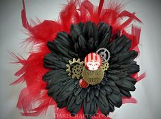Tina Hair Flower #DEHF45 #hairflower #hairaccessories #hairflowerclip #steampunk #steampunkaccessories