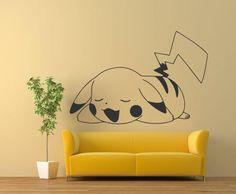 """Pikachu 24""""x35"""" Pokemon Wall Decals, Vinyl Decals, Murals Sticker,  #Oracal631MatteFinishVinylPaper #StreetArts $20"""