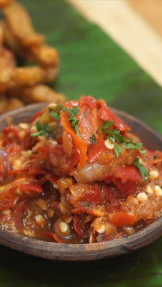 Indonesian Sambal Recipe, Indonesian Food, Asian Recipes, Healthy Recipes, Malay Food, Healthy Slow Cooker, Malaysian Food, Diy Food, Food Videos