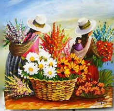Art: paintings by joan Peruvian Art, Latino Art, Southwest Art, Indigenous Art, Mexican Folk Art, Naive Art, Flower Art, Painting & Drawing, Modern Art