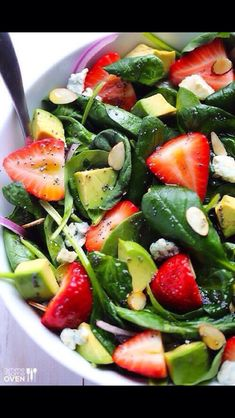 Strawberry Alvarado Spinach Salad