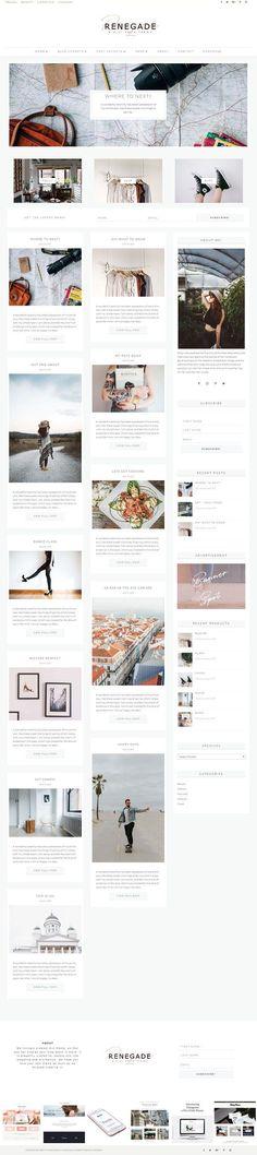 Renegade WordPress Divi Blog Theme by Pretty Web Design on @creativemarket