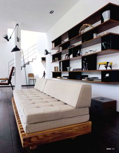 Modern shelving unit + decor