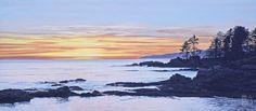 Ron Parker - Botany Bay Sunset - oil on canvas - 24 x 54