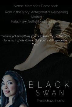 """You have everything you need to be the perfect wife for a man of his stature. But youre still replaceable, Tess."" #mercedes #blackswan #idesofmarch"