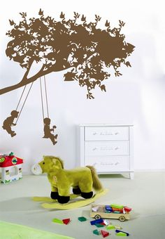Kids Wall Decals-Kids on Swings- WALLTAT.com Art Without Boundaries