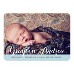 Sweet Welcome Two Photo Modern Birth Announcement Invitation Card