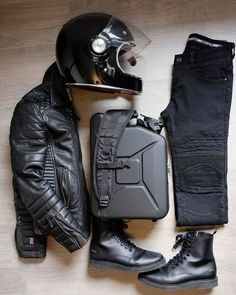 Leather essentials with Boda Skins, shot by Nick Jans. Leather essentials with Boda Skins, shot by Nick Jans. Motorcycle Boots Outfit, Cafe Racer Motorcycle, Motorcycle Design, Motorcycle Style, Motorcycle Gear, Motorcycle Accessories, Motorcycle Fashion, Biker Gear, Cafe Racer Helmet