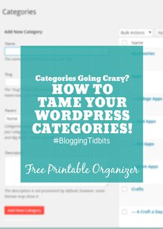 Categories Going Crazy? How to Organize your WordPress Categories