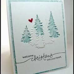 Homemade Christmas Cards, Christmas Cards To Make, Homemade Cards, Christmas Crafts, Christmas Trees, Holiday Cards, Cricut Christmas Cards, White Christmas, Christmas Deco
