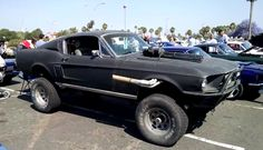 hotamericancars:  Mad Max Inspired 1967 Ford Mustang 4x4 Road WarriorCHECK OUT THE VIDEO