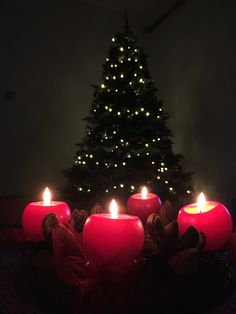 #christmas #tree #candles #december #christmastree