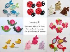 Crochet patches – Ein Dino ist aus dem Ei geschlüpft :) – a unique product by garndesign-schnullerkette on DaWanda