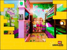 Stay and play in your own piece of Heartlake City and become part of the world of LEGO Friends.  Complete with the Café, Stables and your very own LEGO tree house room, use clues to explore the tree house and join the LEGO Friends in a game of hide and seek with their pets!  All LEGO Friends rooms include fun and colorful décor and LEGO models.