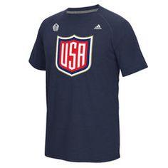 adidas USA Hockey Navy 2016 World Cup of Hockey Primary Logo Ultimate climalite T-Shirt Nhl Hockey Jerseys, Usa Hockey, Hockey Shirts, Adidas Cap, Adidas Pants, Jogger Pants, Adidas Superstar, Adidas Originals, Hockey World Cup