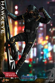 Buy the Avengers 4 Endgame: Hawkeye Deluxe Action Figure from Sanity's Figurines range. Buy from your local Sanity store or online. Captain Marvel, Marvel Avengers, Captain America, Vigilante, Arm Guard, Movie Themes, Clint Barton, Dragon, Hawkeye