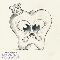 Hurt toof. Because I had to get a root canal yesterday. #morningscribbles | par CHRIS RYNIAK