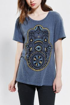 Truly Madly Deeply Hamsa Open-Back Tee - Urban Outfitters