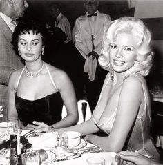 "20160611 – Sophia loren on Jayne Mansfield — Erotixx ""Her nipples were about to come onto my plate. In my face you can see the fear"" -Sophia loren on Jayne Mansfield From Lost In History. Jayne Mansfield, Sophia Loren, Photos Of Eyes, Emotion, Portraits, Celebs, Celebrities, Celebrity Photos, Movie Stars"