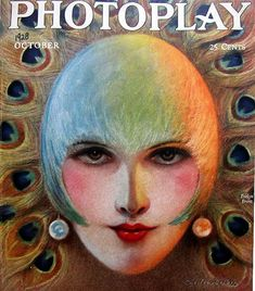 Evelyn Brent in Photoplay cover by Charles Sheldon 1928