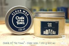 Chalk Of The Town® - Clear Wax Wax, Colors, Colour, Color, Laundry, Paint Colors, Hue