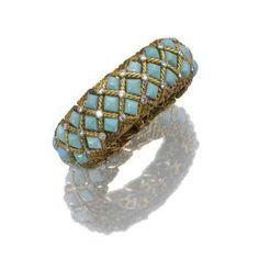 Vintage turquoise (?) ring.