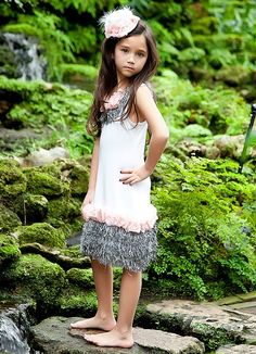Flapper Style Girl Dress with a Twist of Sequin by sharpsissors, $110.00