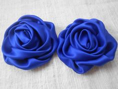 Royal Navy Satin Rolled Flowers - Satin Flowers ,Satin Fabric Flowers, use in DIY craft for baby,children accessories Satin Flowers, Big Flowers, Fabric Flowers, Beautiful Flowers, Ribbon Work, Rose Earrings, Royal Navy, Baby Crafts, Flower Crafts