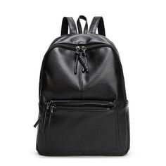 Fashion simple design PU leather backpacks Casual Female bag Trendy women bag luxury shoulder bag vintage leather bag WLHB1394