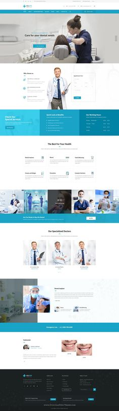 Allied Health Care is beautiful Medical website PSD Template. #dental #dentist #psdtheme Download Now!                                                                                                                                                                                 Más