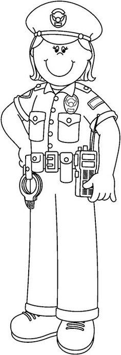 Police Officer Clip Art Black and White