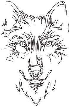 Minimal lines make this wolf design striking. Downloads as a PDF. Use pattern…