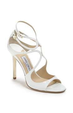 Such a stunning Jimmy Choo sandal to walk down the aisle in.